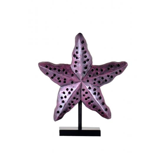 qdec Modern Dizayn Deniz Yıldızı Biblo Mor
