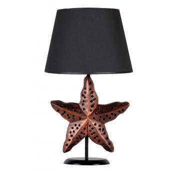 qdec Modern Dizayn Deniz Yıldızı Abajur Bakır Siyah