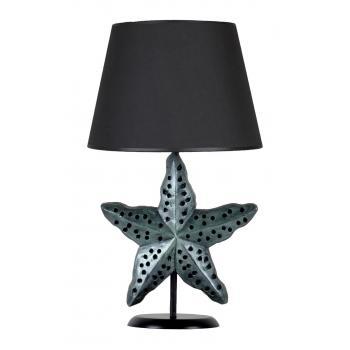 qdec Modern Dizayn Deniz Yıldızı Abajur Zümrüt Siyah