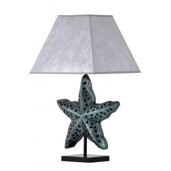 qdec Modern Dizayn Deniz Yıldızı Abajur Zümrüt Gümüş