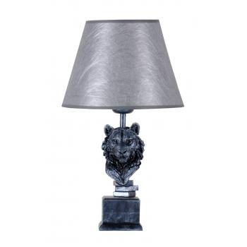 qdec Modern Dizayn Aslan Abajur Gümüş Gümüş