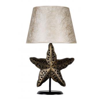 qdec Modern Dizayn Deniz Yıldızı Abajur Gold Gold