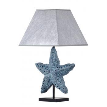 qdec Modern Dizayn Deniz Yıldızı Abajur Antrasit Gümüş