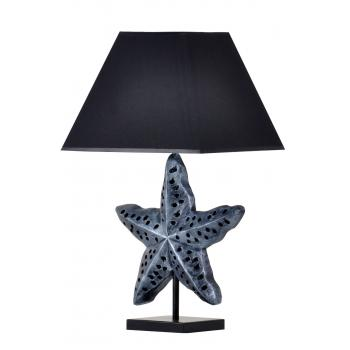 qdec Modern Dizayn Deniz Yıldızı Abajur Gümüş Siyah