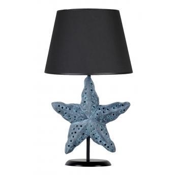 qdec Modern Dizayn Deniz Yıldızı Abajur Antrasit Siyah