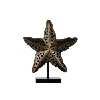 qdec Modern Dizayn Deniz Yıldızı Biblo Gold