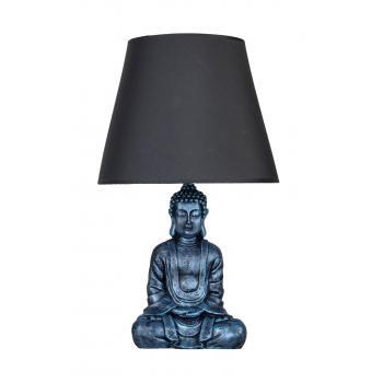 qdec Modern Dizayn Buda Abajur Turkuaz-Gri