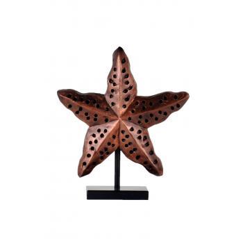 qdec Modern Dizayn Deniz Yıldızı Biblo Bakır