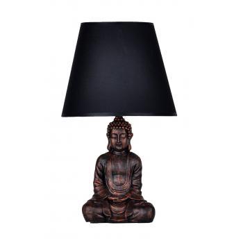 qdec Modern Dizayn Buda Abajur Bakır-Siyah