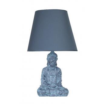 qdec Modern Dizayn Buda Abajur Antrasit-Lacivert
