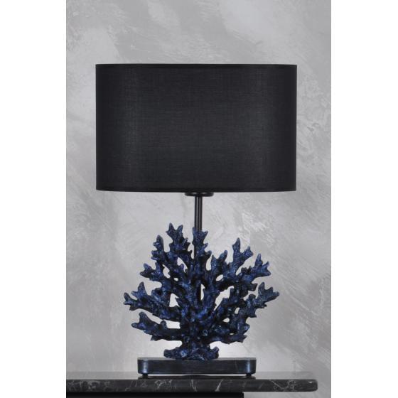 qdec Modern Dizayn Mercan Abajur Cobalt Siyah