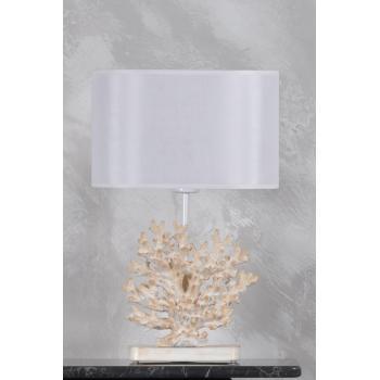 qdec Modern Dizayn Mercan Abajur Beyaz Beyaz