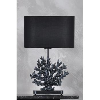 qdec Modern Dizayn Mercan Abajur Gümüş Siyah
