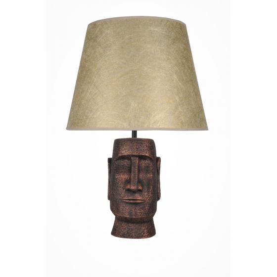 qdec Modern Dizayn Moai Abajur Bakır Gold