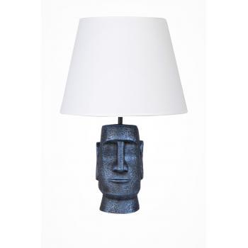 qdec Modern Dizayn Moai Abajur Cobalt Beyaz