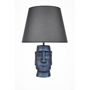 qdec Modern Dizayn Moai Abajur Cobalt Gri