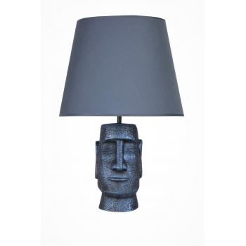 qdec Modern Dizayn Moai Abajur Cobalt Lacivert