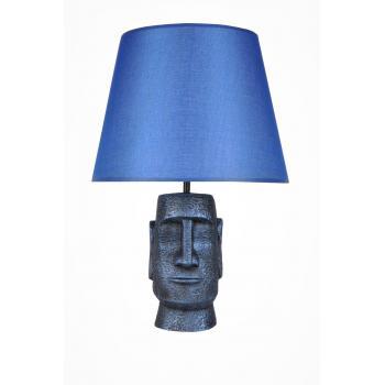 qdec Modern Dizayn Moai Abajur Cobalt Mavi