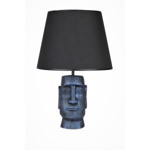 qdec Modern Dizayn Moai Abajur Cobalt Siyah