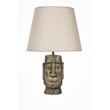 qdec Modern Dizayn Moai Abajur Gold Bej