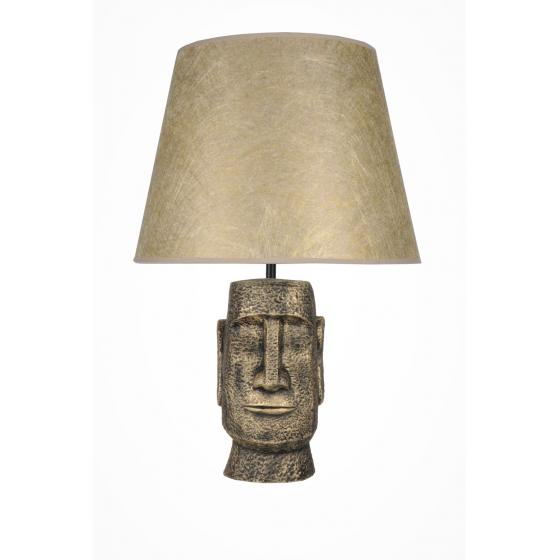 qdec Modern Dizayn Moai Abajur Gold Gold