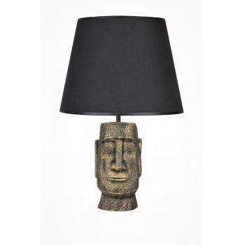 qdec Modern Dizayn Moai Abajur Gold Siyah