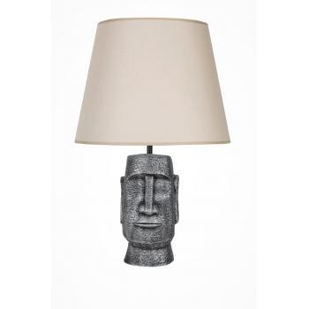 qdec Modern Dizayn Moai Abajur Gümüş Bej