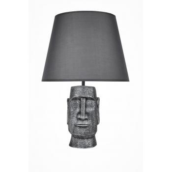 qdec Modern Dizayn Moai Abajur Gümüş Gri