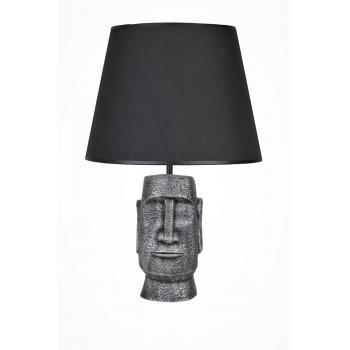 qdec Modern Dizayn Moai Abajur Gümüş Siyah