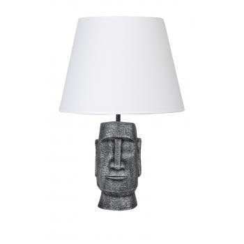 qdec Modern Dizayn Moai Abajur Gümüş Beyaz